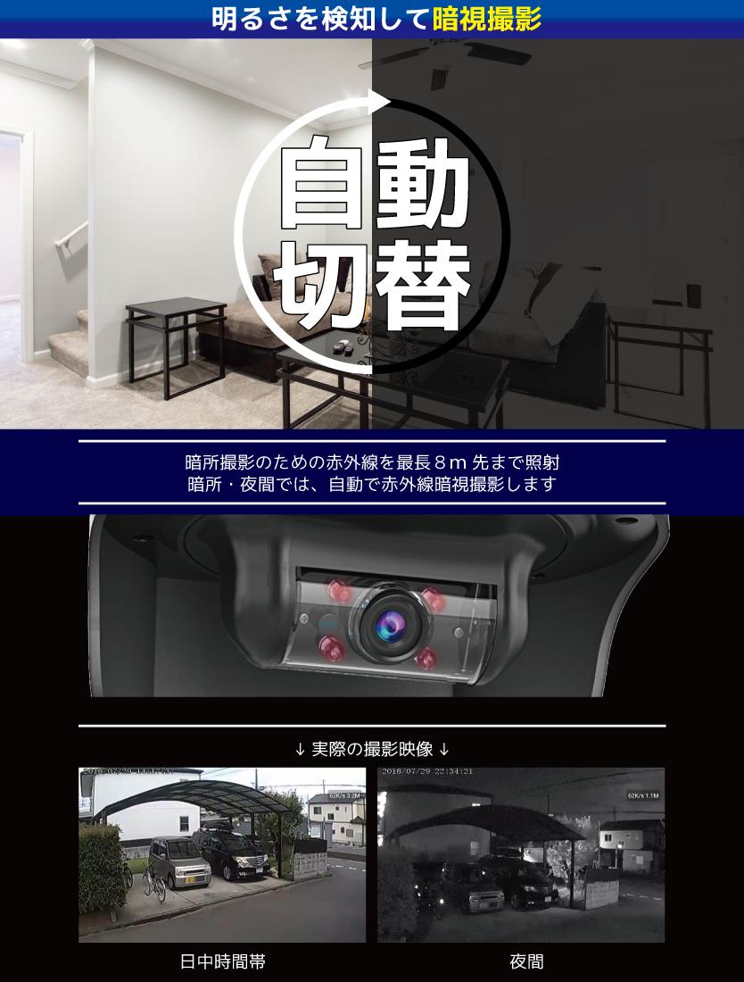 太陽光充電対応 外部電源不要 Wi-Fiホームセキュリティカメラ DVR-SL1の商品画像|4