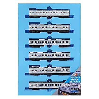 マイクロエース MICROACE 301系 グレー・青帯・冷改 6両基本セット A0058の商品画像|2