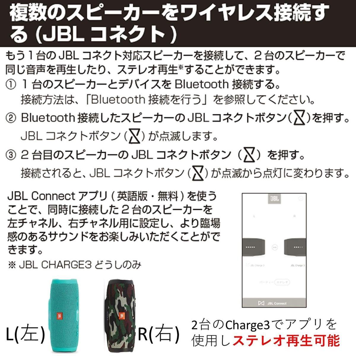 Bluetoothスピーカー CHARGE3 JBLCHARGE3BLUEJN (ブルー)の商品画像 3