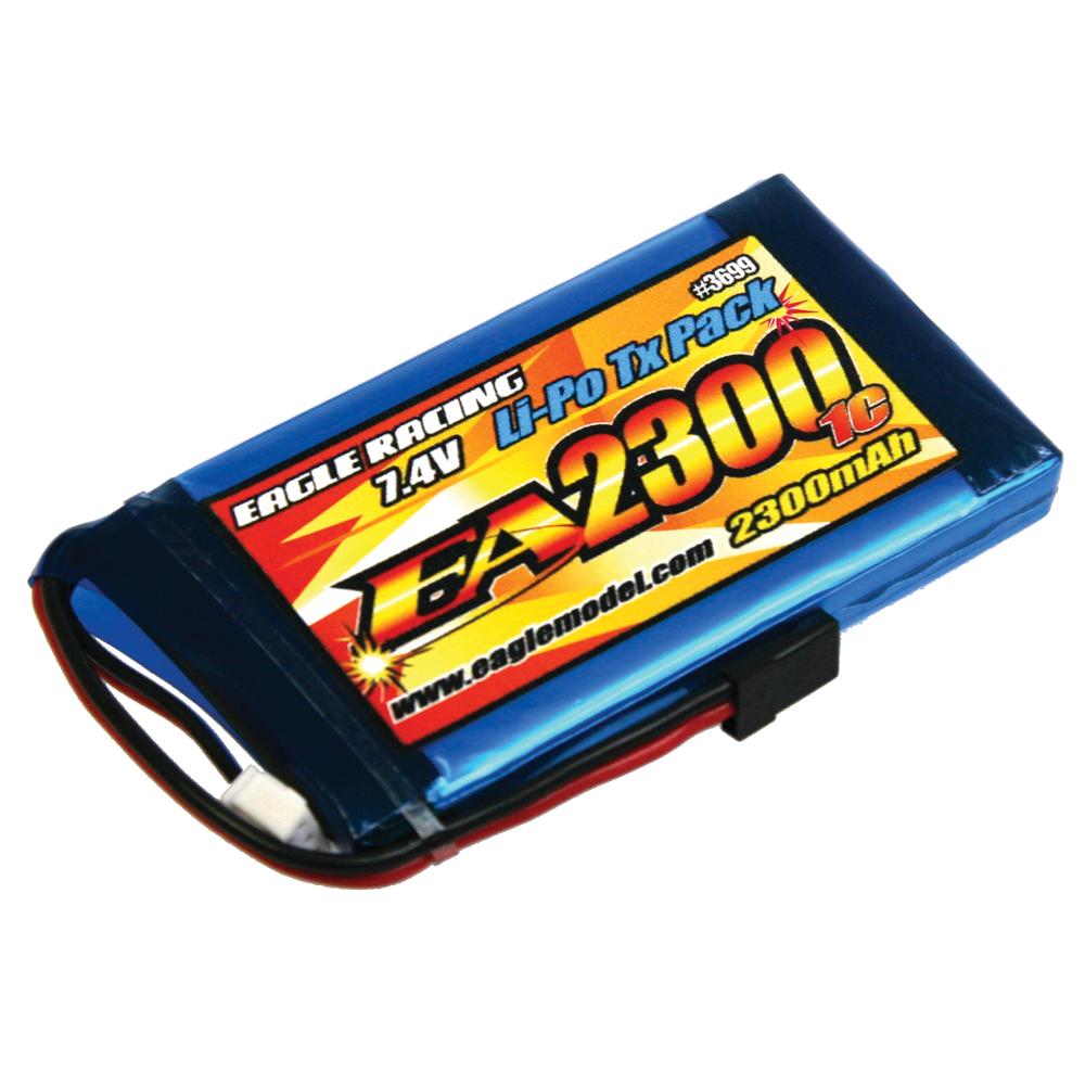 イーグル模型 Li-Poバッテリー EA2300/2S 7.4V 1C TXパック(M11X用) 3699U2の商品画像|ナビ