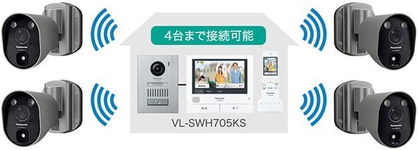 パナソニック センサーライト付屋外ワイヤレスカメラ VL-WD813Kの商品画像|3