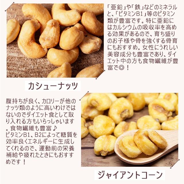 巌流庵のミックスナッツ 5種 塩味 有塩 大粒 500g (アーモンド、カシューナッツ、ジャイアントコーン、バターピーナッツ、珍豆)の商品画像 4