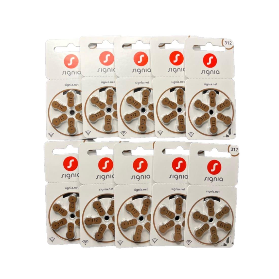 【空気電池】シーメンス補聴器用 PR41/312 10パック(60粒入り)の商品画像|ナビ