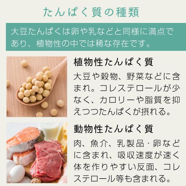 たんぱく質の種類「植物性たんぱく質」「動物性たんぱく質」