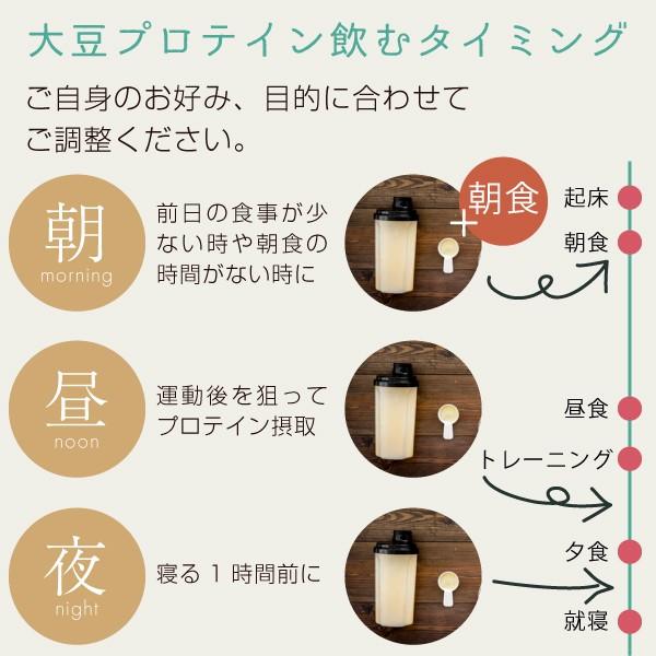 大豆たんぱく(ソイプロテイン)の飲むタイミング