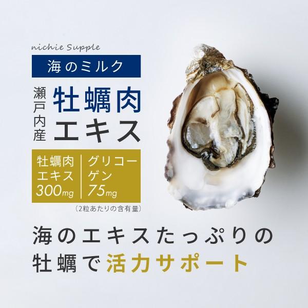 海のエキスたっぷりの牡蠣で活力サポート「ニチエー 瀬戸内産 牡蠣肉エキスサプリメント」