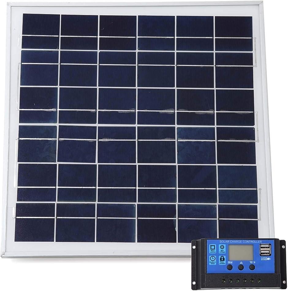 スプレンノ ソーラーパネル 20W ソーラーチャージャー コントローラー セット 20A 12V 24V
