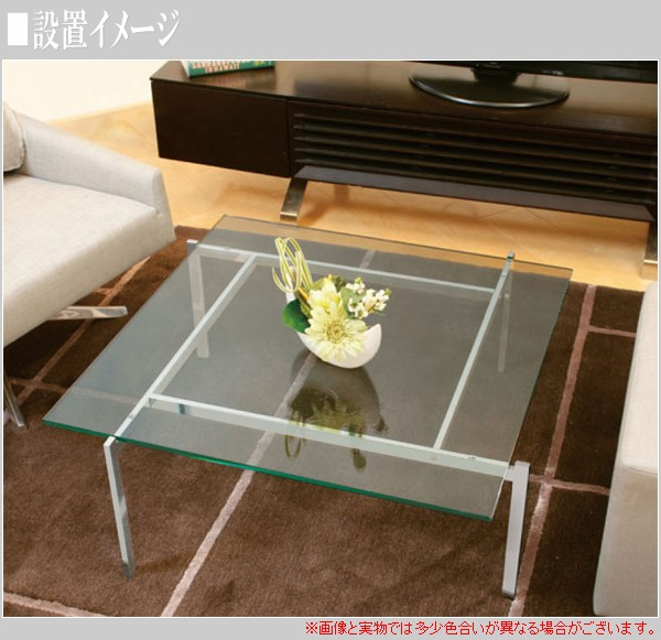 リビングテーブル W850×D850×H330mm EC-112の商品画像|2