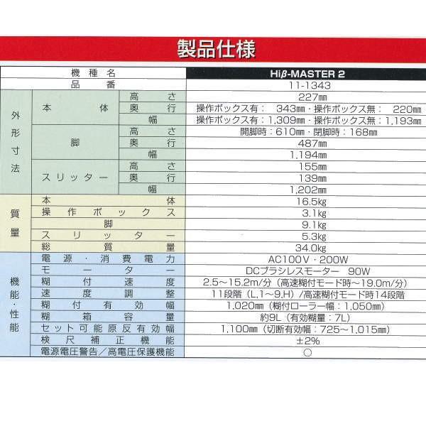 極東産機 自動壁紙糊付機 HiβMASTER(ハイベータマスター)