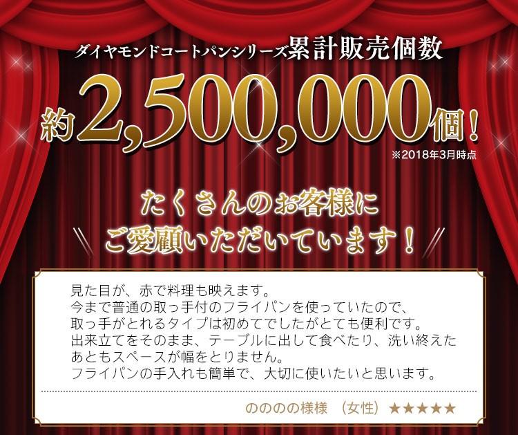 アイリスオーヤマ KITCHEN CHEF ダイヤモンドコートパンIH対応 20cm IS-F20の商品画像 2