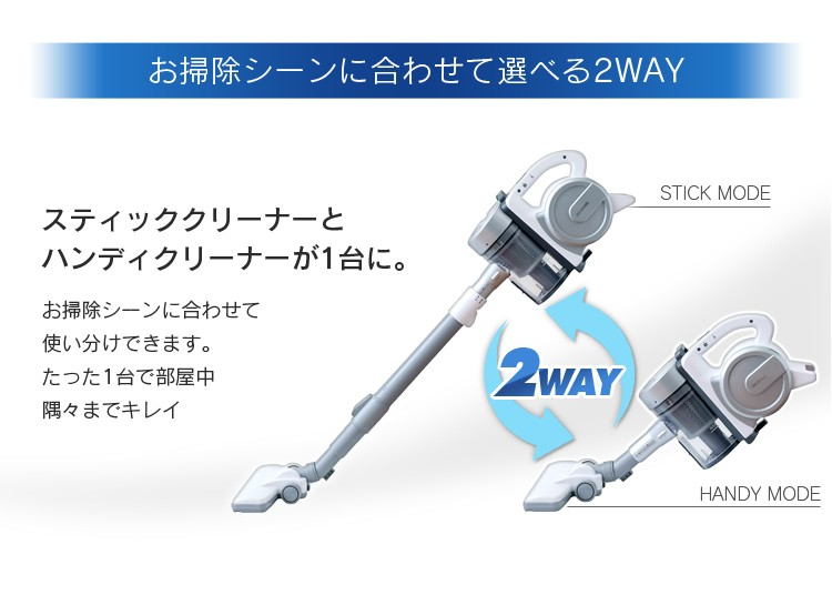 アイリスオーヤマ サイクロンスティッククリーナー IC-S55E-S +ふとん用クリーナーヘッド CH-F1の商品画像 4