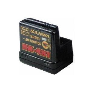 サンワ レシーバー RX-481(2.4GHz FHSS4/FHSS3 スペクトラム拡散方式 4ch)107A41251Aの商品画像 ナビ
