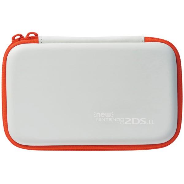ホリ スリムハードポーチ for Newニンテンドー2DS LL ホワイト×オレンジ 2DS-110の商品画像|ナビ