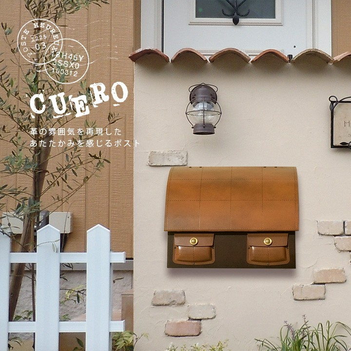 ポスト,郵便受け,郵便ポスト,壁掛けタイプ,メールボックス,鞄型,アンティークレザー風,バッグ