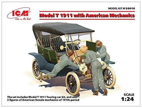 T型フォード 1911 w/アメリカ 女性整備士 (1/24スケール 24010)の商品画像|ナビ