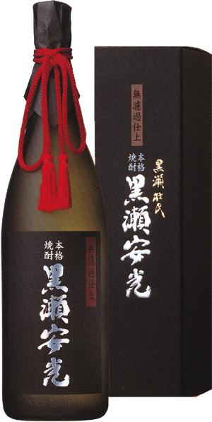 鹿児島酒造 芋焼酎 黒瀬安光 S型麹 ネオマイセル吟醸麹 28度 1800mlの商品画像 ナビ