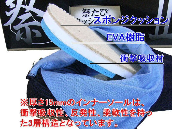藍染(祭り足袋)