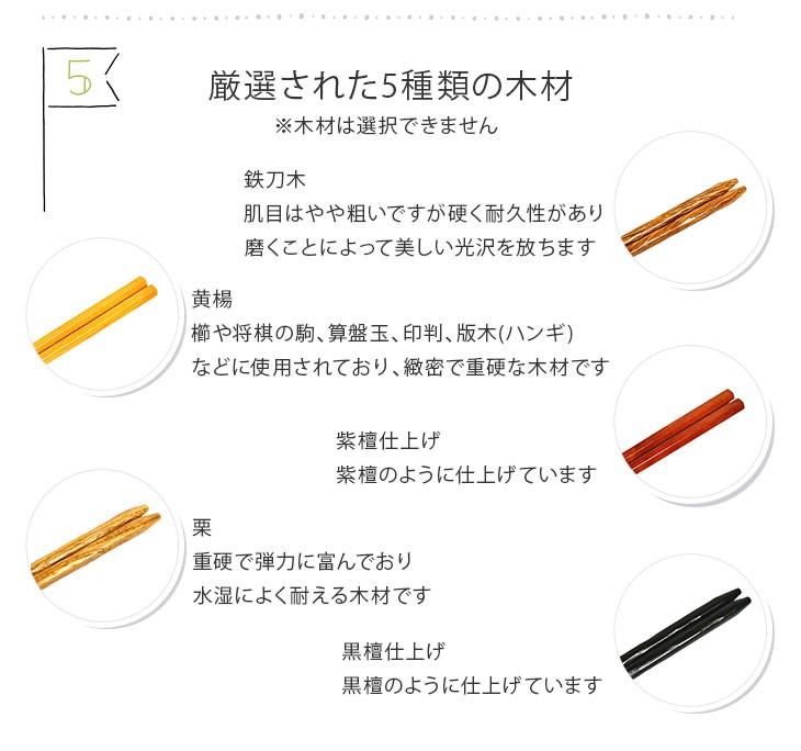 5種類の木材紹介