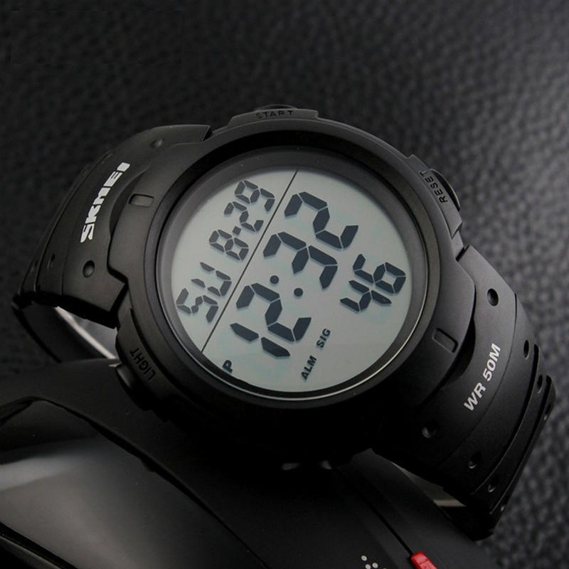 beec78303e SKMEI 腕時計 メンズ 大きい文字盤 5気圧防水 デジタル表示 LEDライト ...