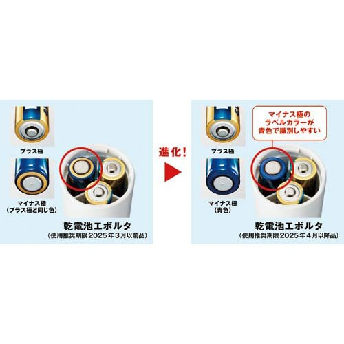 パナソニック エボルタ アルカリ乾電池 EVOLTA LR14EJN/10S(単2形 10本入)の商品画像|4