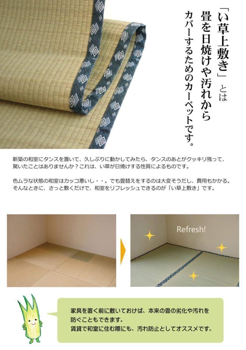 イケヒコ い草上敷き ほほえみ 江戸間2畳の商品画像|2