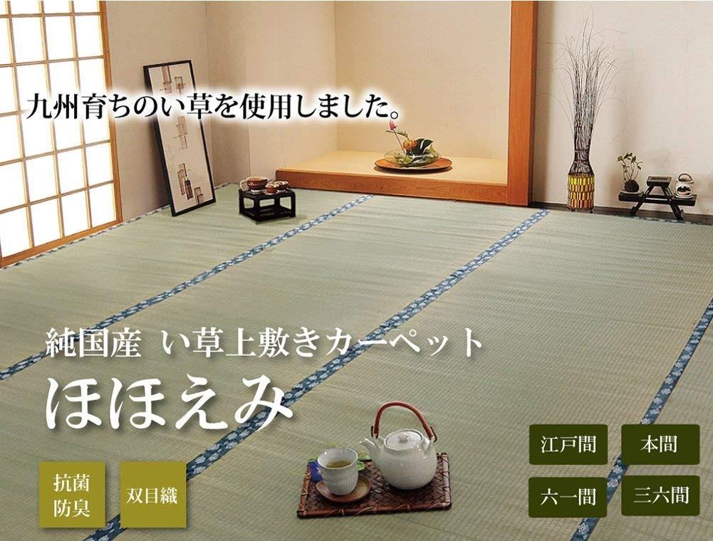 イケヒコ い草上敷き ほほえみ 江戸間2畳の商品画像|4