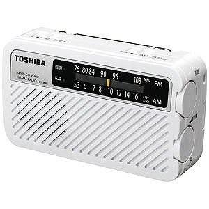 「納期約7〜10日」TOSHIBA 東芝 TOSHIBA 手回し充電ワイドFMラジオ(ホワイト) TYJKR5W