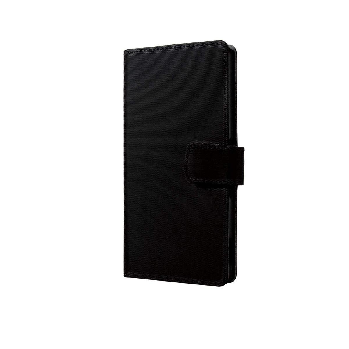 エレコム Xperia Z4用 ファブリックカバー ブラック PM-SOZ4PLFF02の商品画像 3