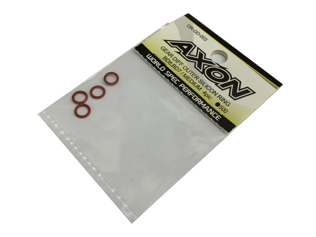 AXON GEAR DIFF OUTER SILICON RING/BD8 MEDIUM 4pic OR-GD-003の商品画像|ナビ