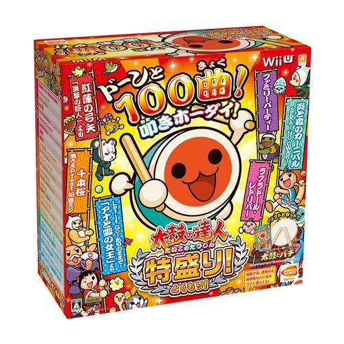 【Wii U】バンダイナムコエンターテインメント 太鼓の達人 特盛り![太鼓とバチ同梱版]の商品画像|ナビ