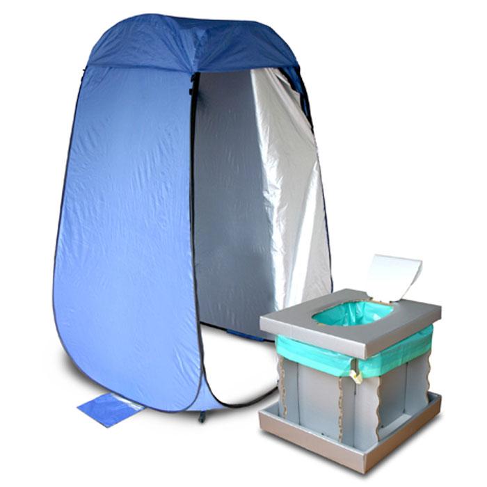 ワンタッチルームテント&インスタントトイレ 簡易トイレ&簡易テントセット 災害時 防災用品 組み立て不要 簡単 便利 メテックス NBBOR-BL-SET