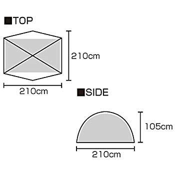 BUNDOK ツーリングテント UVの商品画像|4