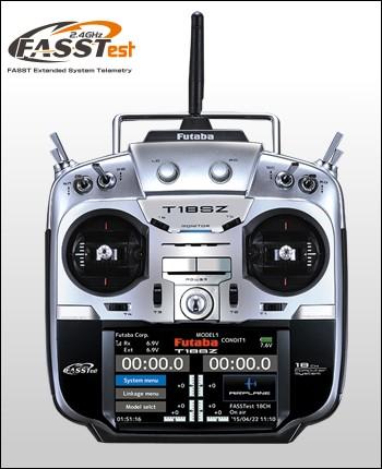 フタバ プロポ 18SZ(18ch-2.4GHz FASSTestモデル)ヘリ用 T/Rセット(R7003SB付)027444の商品画像 ナビ