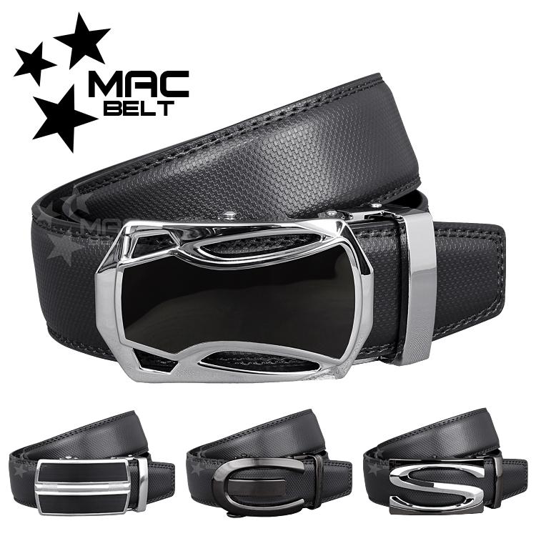 ベルト メンズ 革 MACBELT マックベルト 穴なし スライド式 牛革 ビジネス ベルト メンズ 簡単ウエスト調整 大きいサイズ 送料無料 MBF