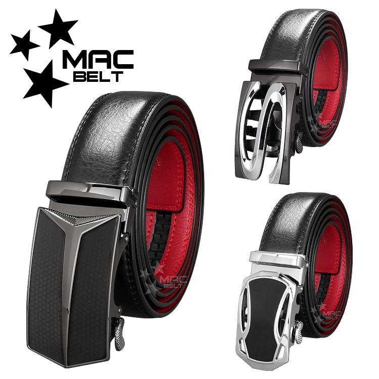 ベルト メンズ 革 MACBELT マックベルト 穴なし スライド式 牛革 ビジネス ベルト メンズ 簡単ウエスト調整 大きいサイズ 送料無料 MBR