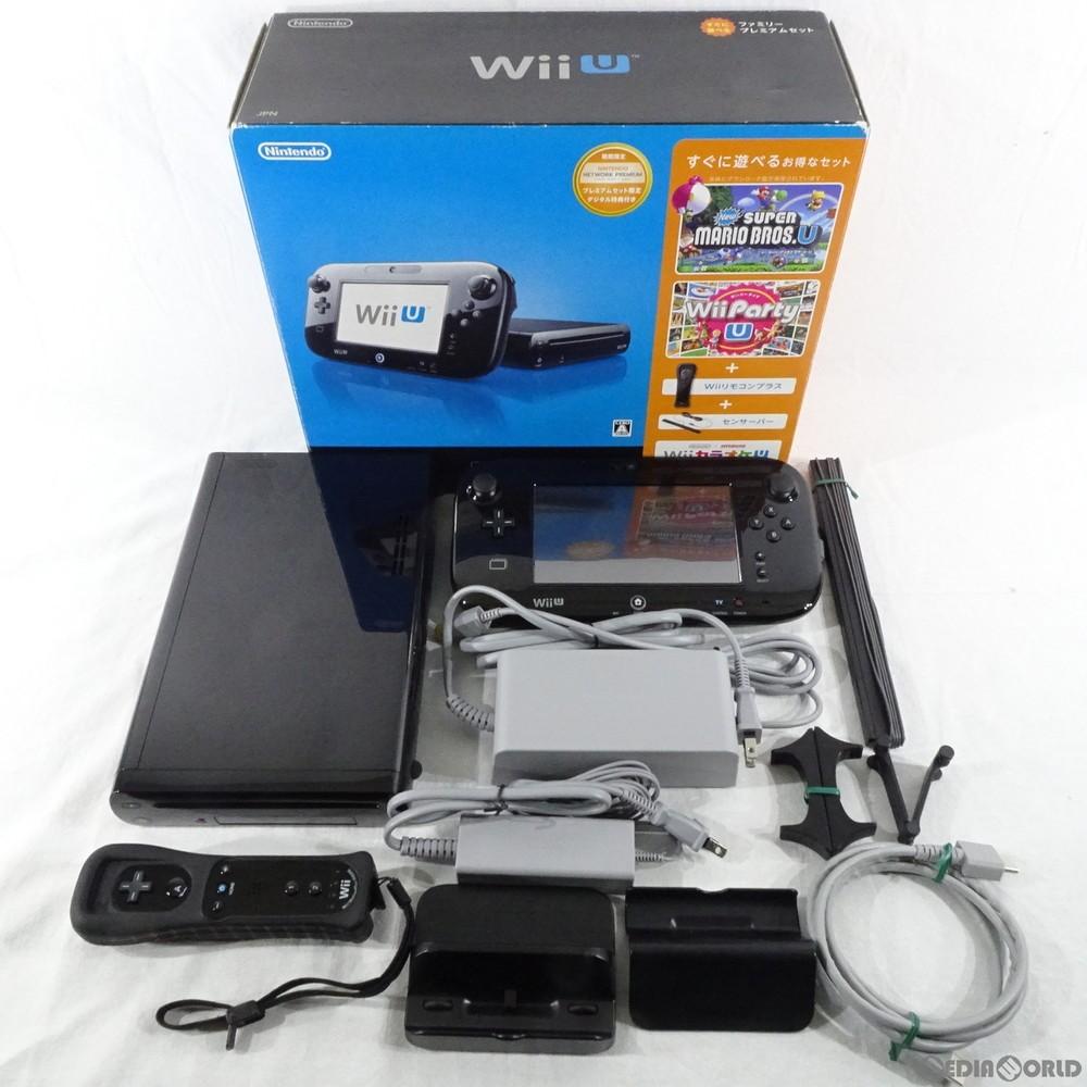 任天堂 Wii U すぐに遊べるファミリープレミアムセット(クロ)の商品画像|ナビ