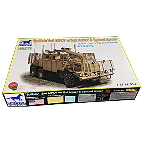 ブロンコモデル アメリカ バッファロー MPCV 地雷除去車両 スペースド &スラットアーマー(1/35スケール CB35145)の商品画像 ナビ