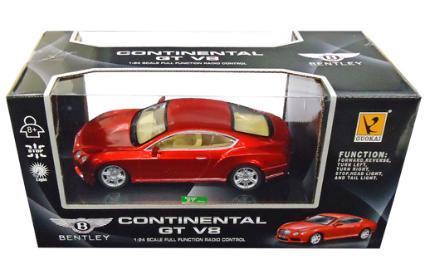 童友社 1/24RC ベントレー コンチネンタル GTV8 赤の商品画像|ナビ