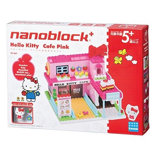 ナノブロックプラス ハローキティシリーズ ハローキティ ピンクの大きなカフェ PK-007の商品画像 ナビ