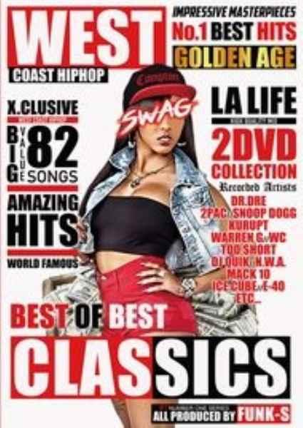 2枚組 ウエッサイ ヒップホップ 黄金期 洋楽PV集 クラシックス レアソングWest Coast HIPHOP Best Of Best Classics / Funk-S