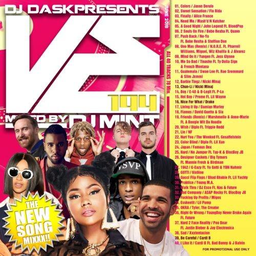 ヒップホップ・R&B・トップ40・ジェイソンデルーロ・ニーヨDJ Dask Presents VE194 / DJ Mint