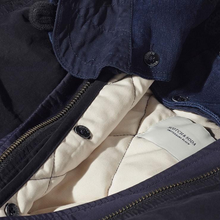 メゾンスコッチ MAISON SCOTCH 正規販売店 レディース アウターコート Winter parka with subtle color blocking, detachable hood and lining. 100173 57