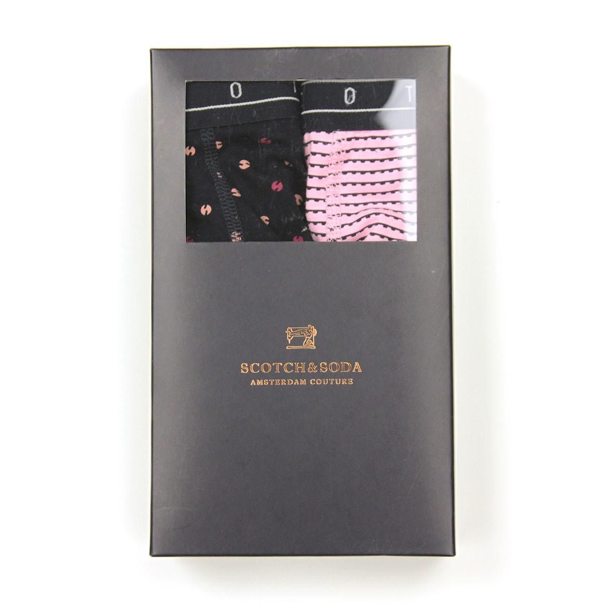 スコッチアンドソーダ ボクサーパンツ メンズ 正規販売店 SCOTCH&SODA 下着 2枚組 CLASSIC ALL-OVER PRINTED BOXER SHORTS COMBO B 151340 89914 89