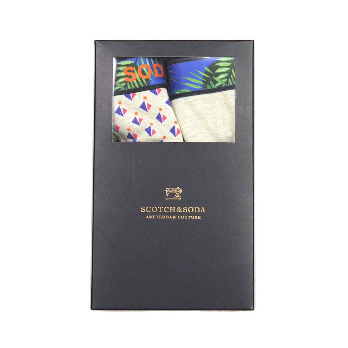 スコッチアンドソーダ ボクサーパンツ メンズ 正規販売店 SCOTCH&SODA 下着 2枚組 SUMMER BOXER SHORT 2-PACK 154434 0217 19909 39 COMBO A