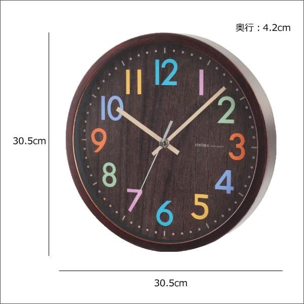 ノア精密 ウォールクロック フレデリカ W-620 BR(ブラウン)の商品画像|3