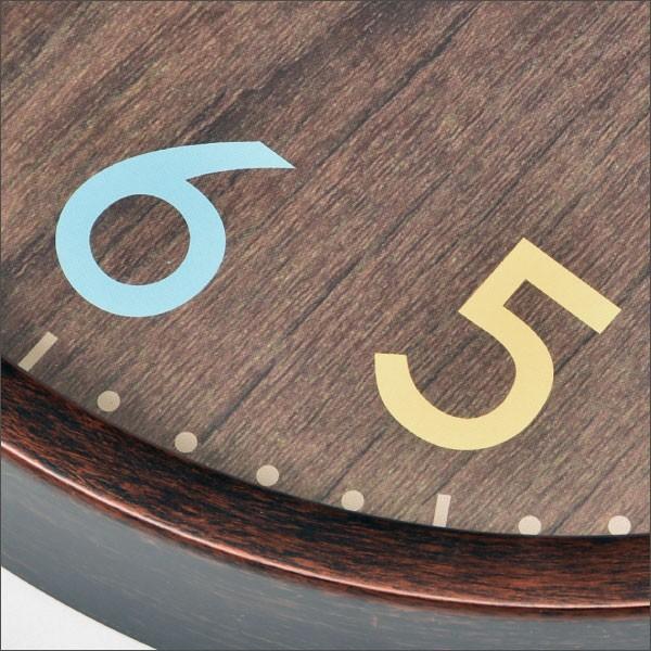 ノア精密 ウォールクロック フレデリカ W-620 BR(ブラウン)の商品画像|4