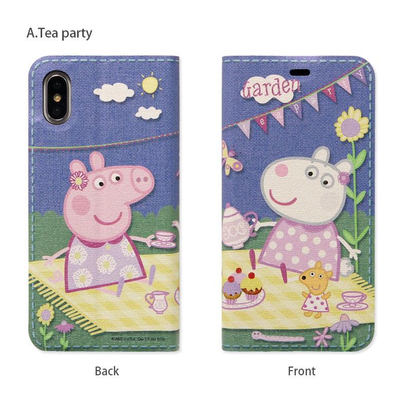 iPhone X用 ペッパピッグ フリップカバー Tea party PPG-03Aの商品画像|4