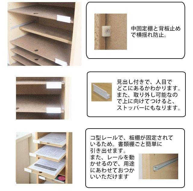 A3用紙整理棚 扉収納付 PLN-24の商品画像|2
