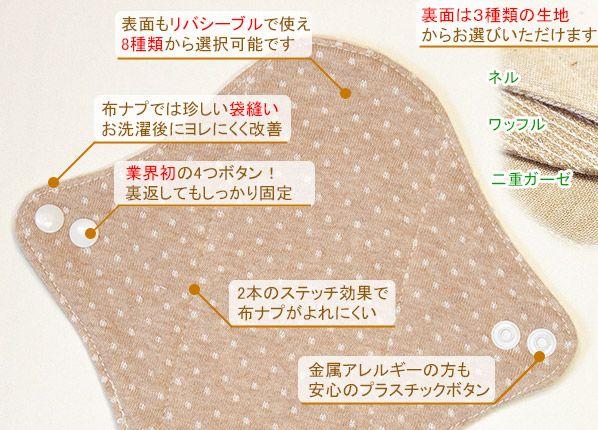 オーガニック布ナプキンの特徴