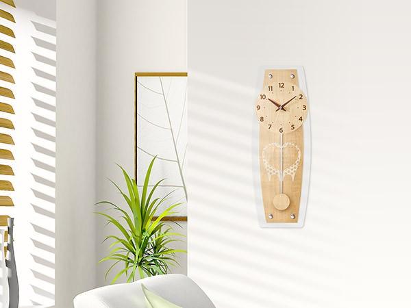 ローレンシア 電波振り子時計 W-679N-Z(ナチュラル)の商品画像|3